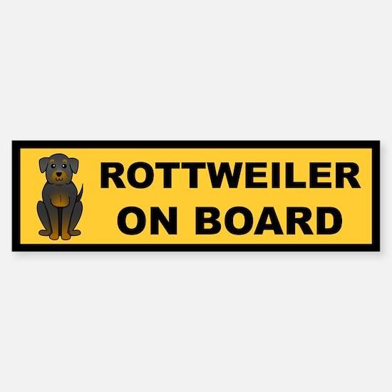 Rottweiler on Board Bumper Bumper Bumper Sticker
