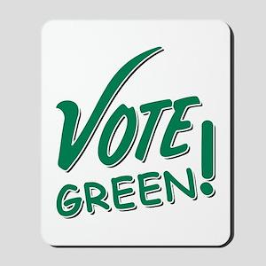 """Vote Green"" Mousepad"