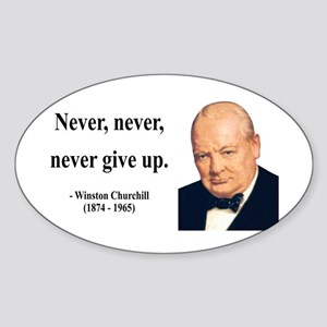 Winston Churchill 3 Oval Sticker