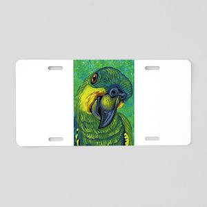 Blue Front Amazon Parrot Aluminum License Plate