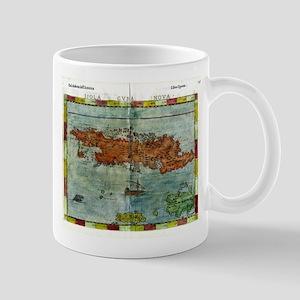 Vintage Map of Cuba (1562) Mugs