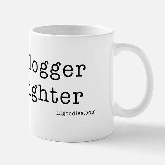 blogger not fighter Mug