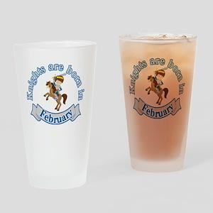February Birthday   Knights Are Bor Drinking Glass