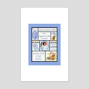Personalized Boy Sampler-Like 8X10 Print - Custom