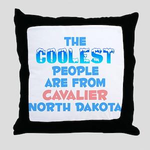 Coolest: Cavalier, ND Throw Pillow