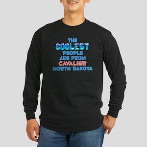 Coolest: Cavalier, ND Long Sleeve Dark T-Shirt
