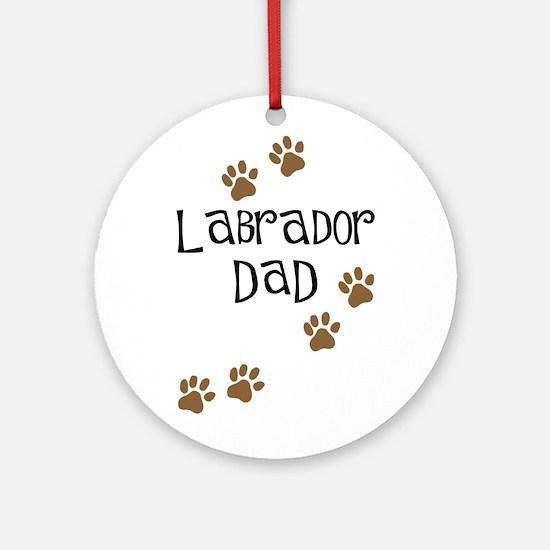 Labrador Dad Ornament (Round)