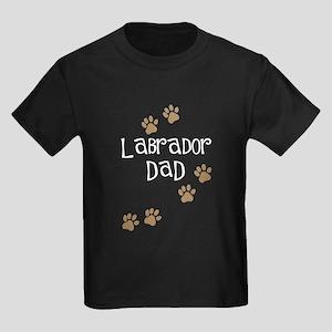 Labrador Dad Kids Dark T-Shirt
