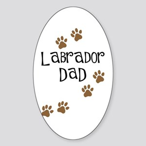Labrador Dad Oval Sticker