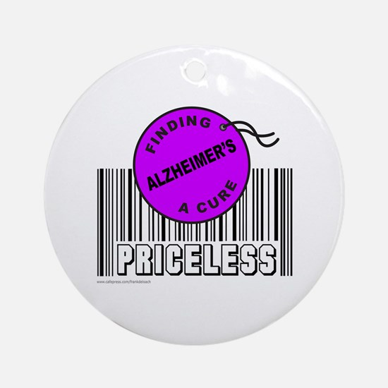 ALZHEIMER'S FINDING A CURE Ornament (Round)