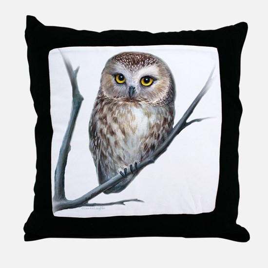 little owl Throw Pillow