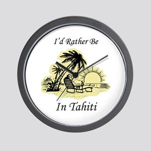 I'd Rather Be In Tahiti Wall Clock