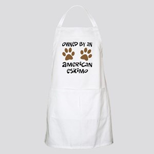 Owned By An American Eskimo BBQ Apron