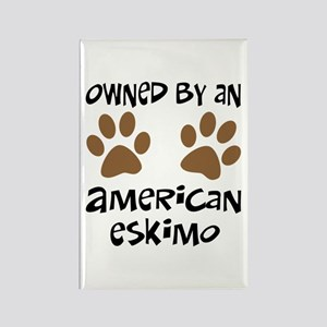 Owned By An American Eskimo Rectangle Magnet