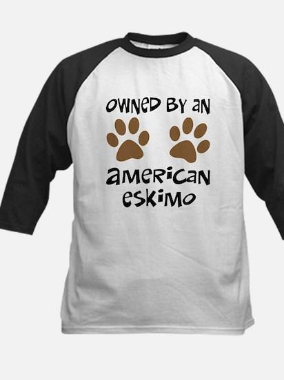 Owned By An American Eskimo Kids Baseball Jersey