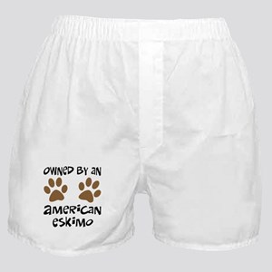 Owned By An American Eskimo Boxer Shorts