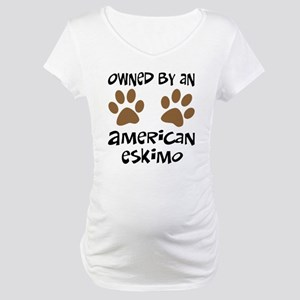 Owned By An American Eskimo Maternity T-Shirt