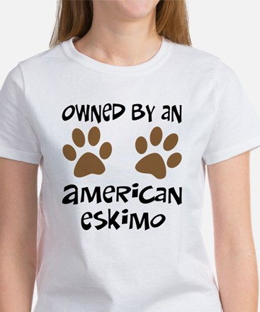 Owned By An American Eskimo Women's T-Shirt