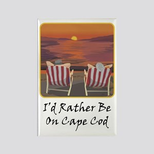 I'd Rather Be At Cape Cod Rectangle Magnet