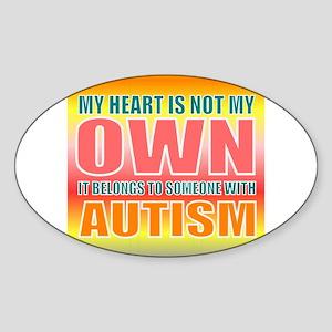 autism orange Sticker