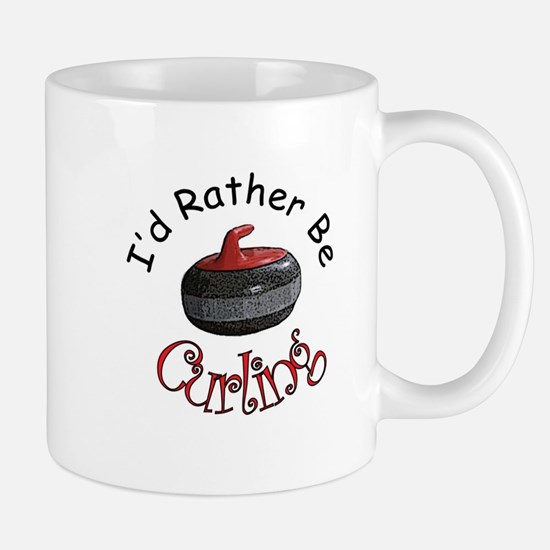 I'd Rather Be Curling Mug
