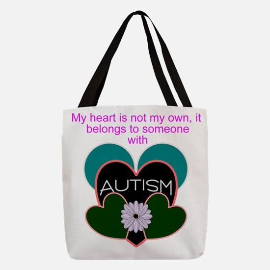 autisms heart Polyester Tote Bag