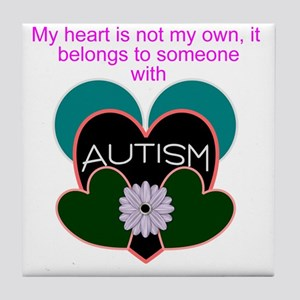 autisms heart Tile Coaster