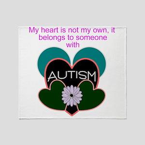 autisms heart Throw Blanket