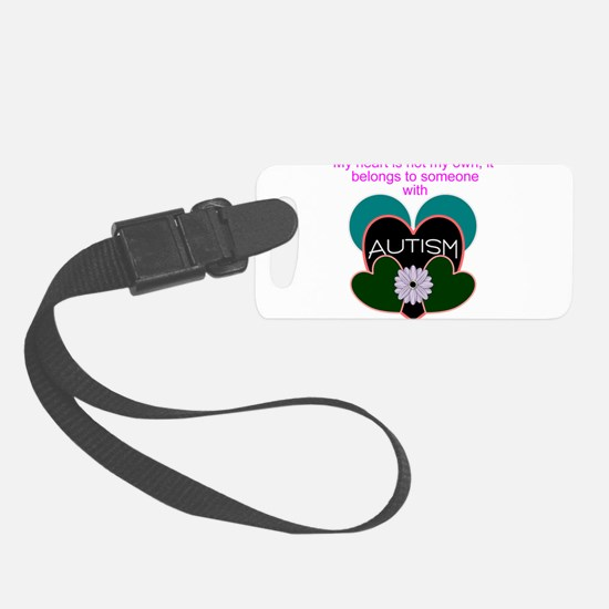 autisms heart Luggage Tag