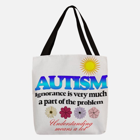 autism ignorance designer Polyester Tote Bag