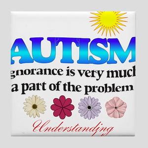 autism ignorance designer Tile Coaster