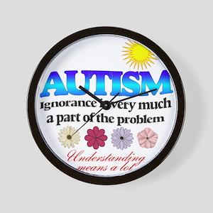autism ignorance designer Wall Clock