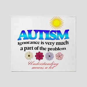 autism ignorance designer Throw Blanket