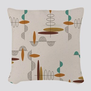 Ovals and Half Moons Woven Throw Pillow