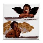 Nubian Cherubs Tile Coaster