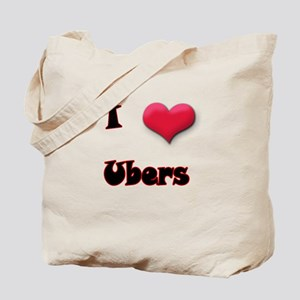 I Love(Heart) Ubers Tote Bag