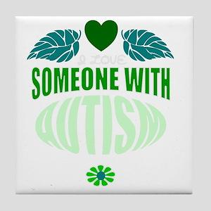 autism green Tile Coaster