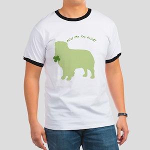 Australian Shepherd... Kiss Me I'm Irish! Ringer T