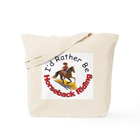 Horseback Riding Tote Bag
