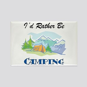 I'd Rather Be Camping Rectangle Magnet