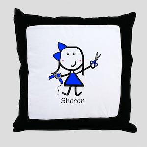 Hairstylist - Sharon Throw Pillow