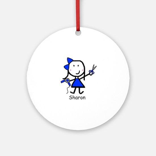 Hairstylist - Sharon Ornament (Round)
