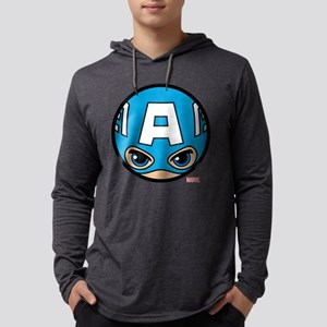 Captain America Icon Mens Hooded Shirt