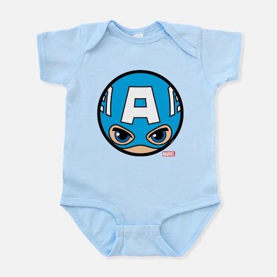 Captain America Icon Baby Light Bodysuit