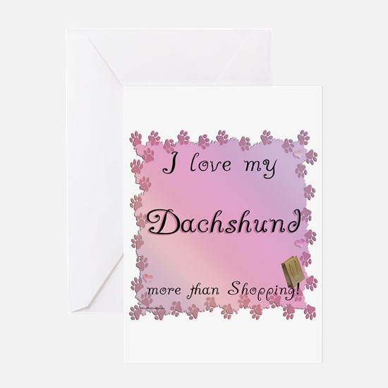 Dachshund Shopping Greeting Card