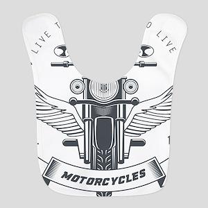 motorcycles born to live custom Polyester Baby Bib