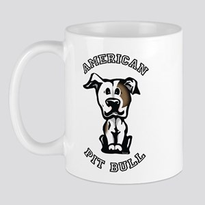 Brown & White Pit Bull Mug