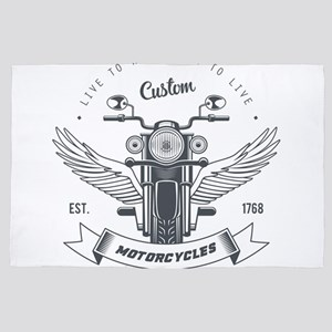motorcycles born to live custom 4' x 6' Rug