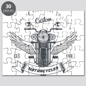 motorcycles born to live custom Puzzle