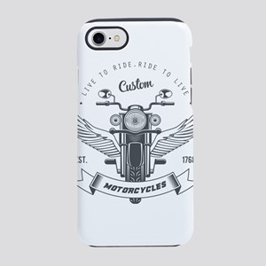 motorcycles born to live cus iPhone 8/7 Tough Case